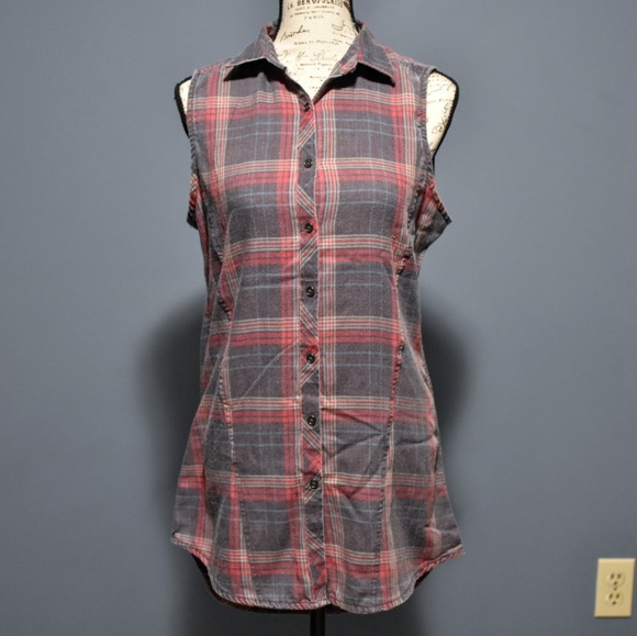 Hot Topic Dresses & Skirts - Hot Topic Flannel Button Down Tank Dress